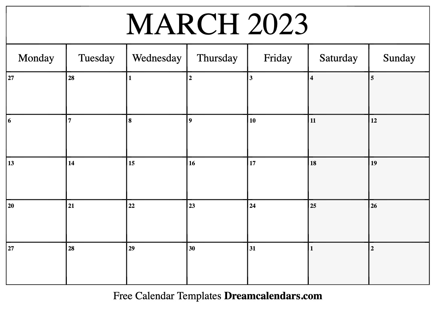 March 2023 Calendar | Free Blank Printable Templates with regard to Sunset And Sunrise Calender 2022 2023