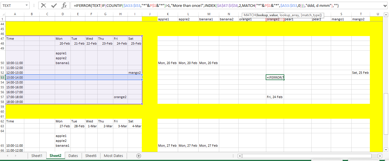 Microsoft Excel - Converting A Weekly Schedule Into A for Turn Excel Spreadsheet Into Calendar