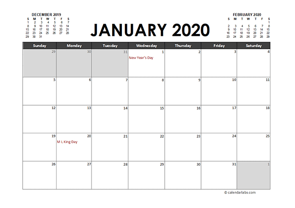 Monthly 2020 Excel Calendar Planner - Free Printable Templates inside How To Convert Xcel Doc To Calendar