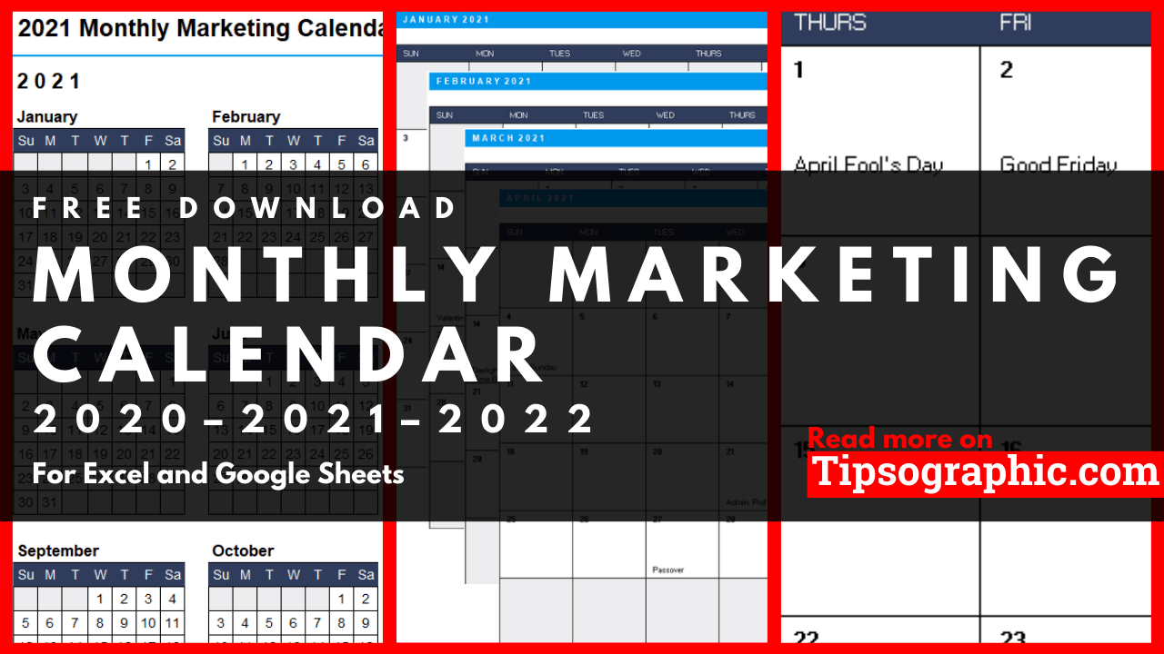 Monthly Marketing Calendar Template For Excel, Free intended for Retail Calendar 2022 4-5-4 Explained