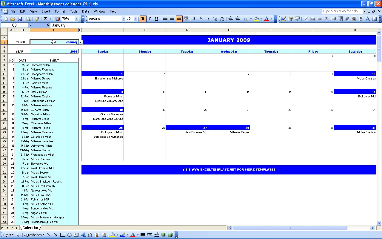 Monthly Schedule Template Excel - Task List Templates with How To Convert Excel Spreadsheet To Calendar