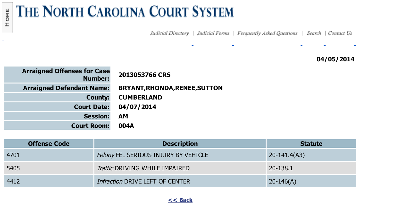 Musings From Fayetteville Ft. Bragg North Carolina: Felon intended for Nc Aoc Court Calendar By Defendant