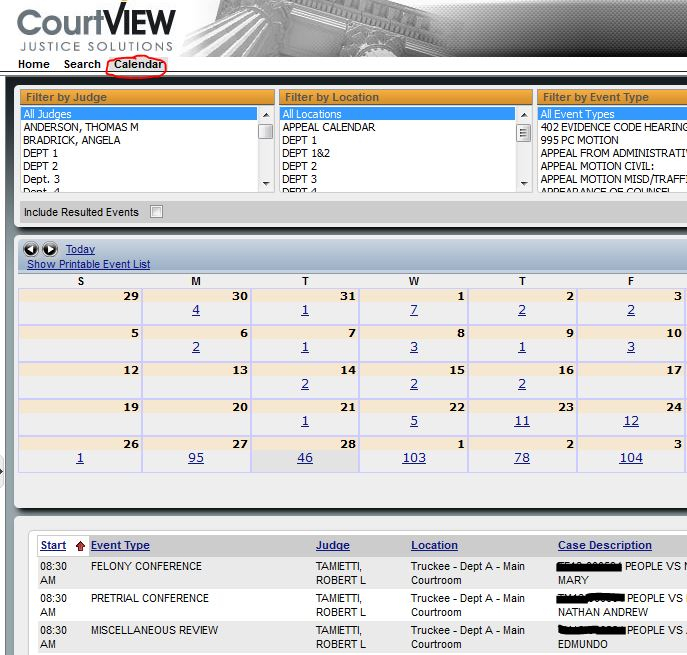 Nc Court Calendars District And Superior | Printable pertaining to District And Superior Court Calendars