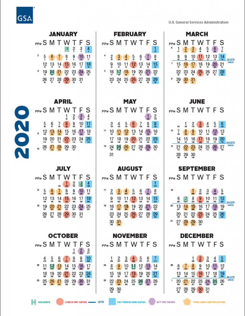 Opm Paid Calendar 2020 - Calendar Template 2020 pertaining to 2022 Federal Calendar Opm
