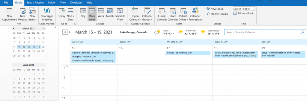 Outlook Diversity Calendar - Diversity Resources within Import Excel Spreadsheet To Outlook Calendar