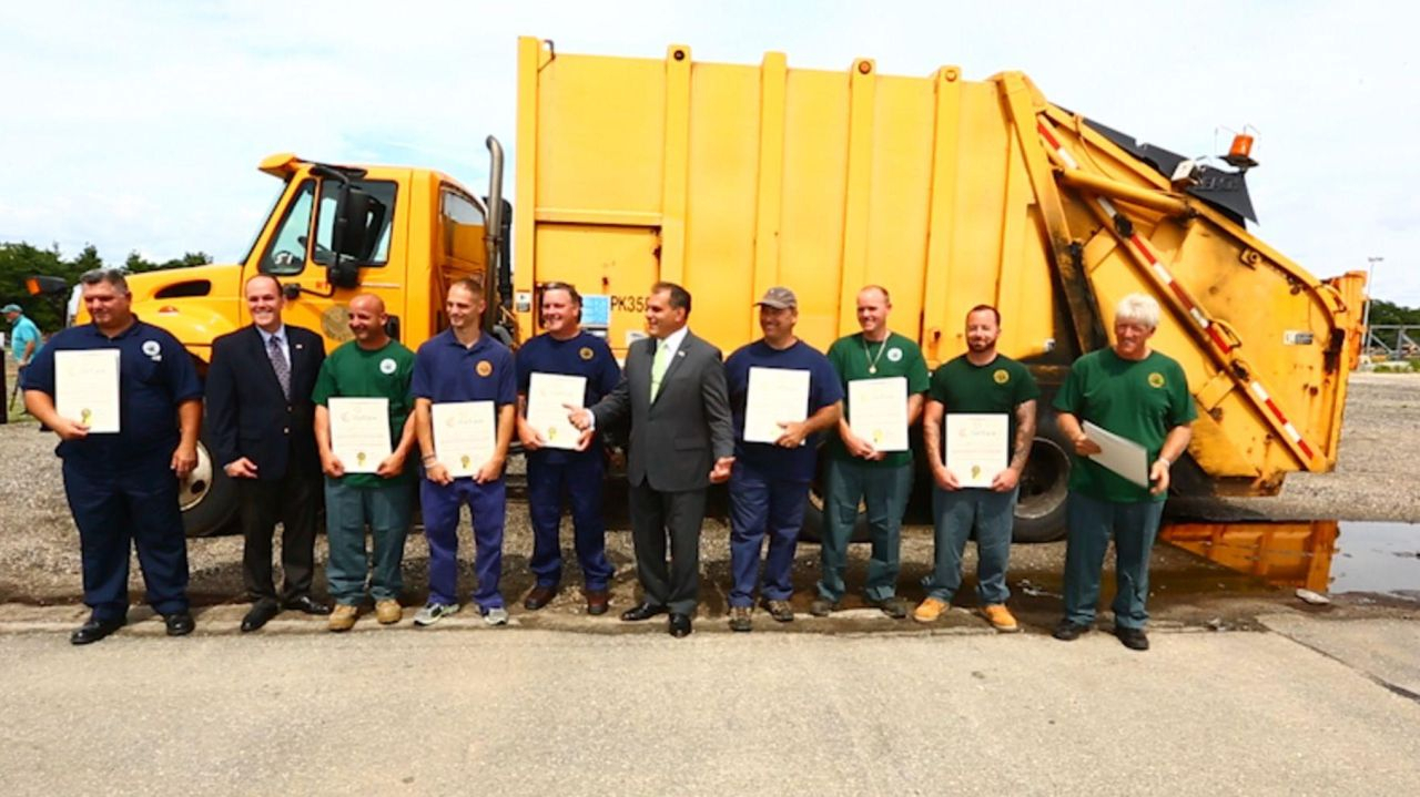 Oyster Bay Town Sanitation Crew Comes To Man'S Aid | Newsday regarding Town Of Oysterbay Town Callendar