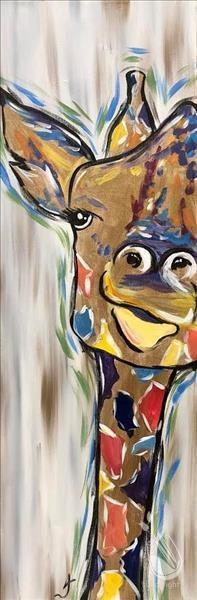 Peek-A-Boo Giraffe 06/12/2018 Missoula, Montana, Painting regarding Painting With A Twist Calnder