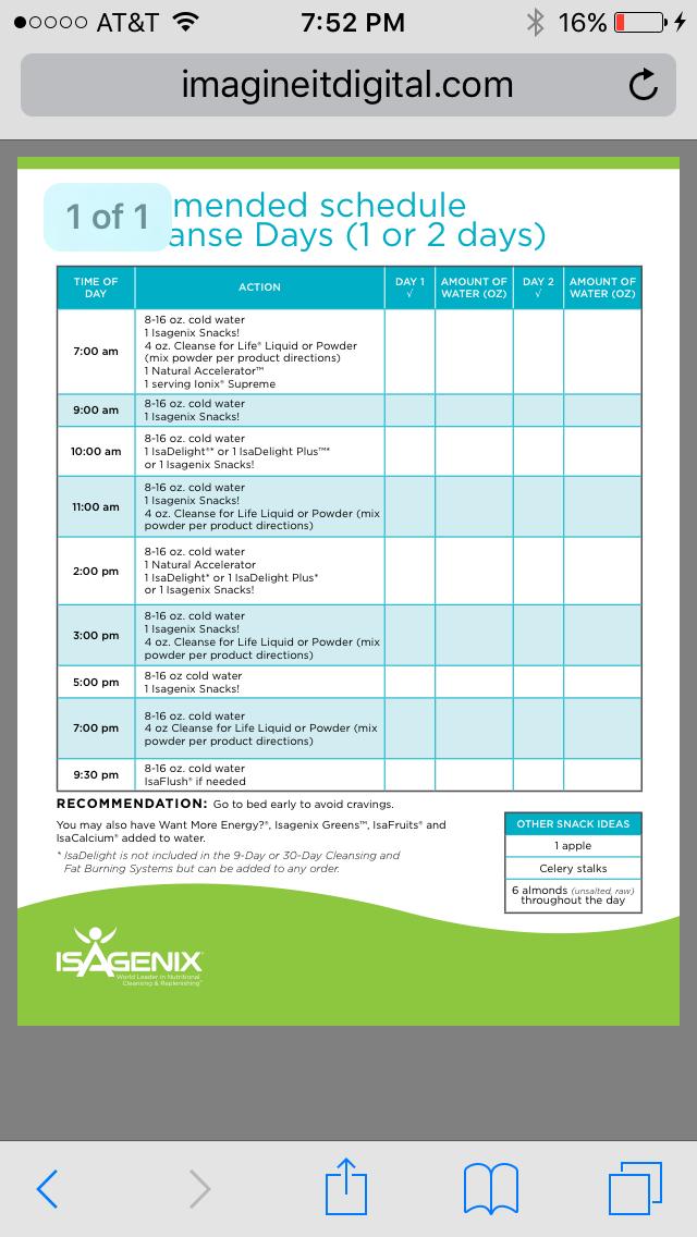 Pinfrancy Carey On Isagenix | Isagenix, Isagenix 30 in Isagenix 30 Day Schedule Pdf