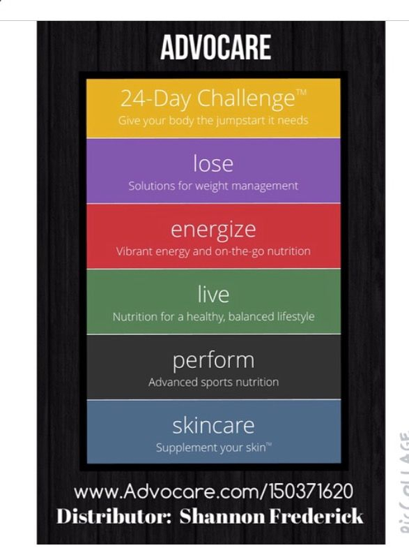 Pinshannon Campbell On Advocare (With Images for Advocare 24 Day Challenge Booklet