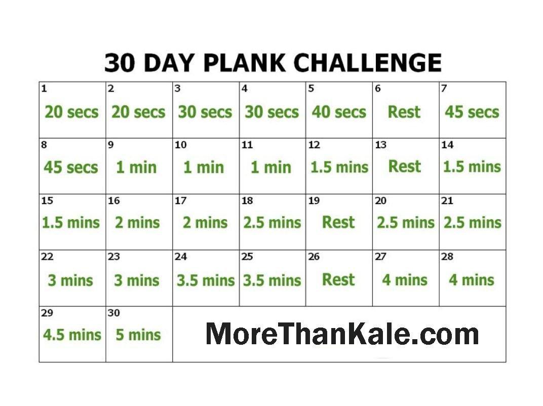 Plank 30 Day Challenge Excel :-Free Calendar Template inside 30 Day Squat Challenge Calendar