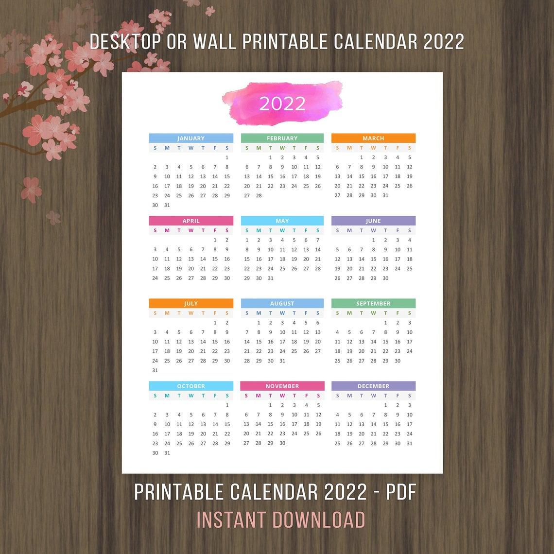 Planner Printable Calendar 2022 2023 Desktop Calendar Wall inside Walmart 2022 2023 Fiscal Calendar