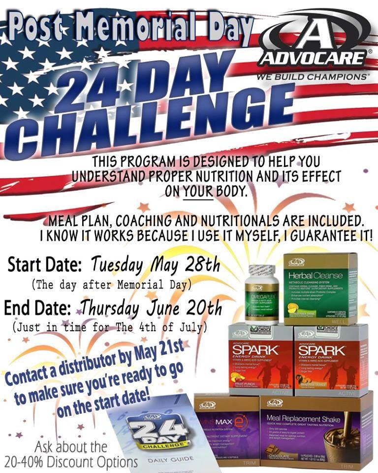 Post Memorial Day Advocare 24 Day Challenge - Fit And inside Advocare 24 Day Challenge Booklet