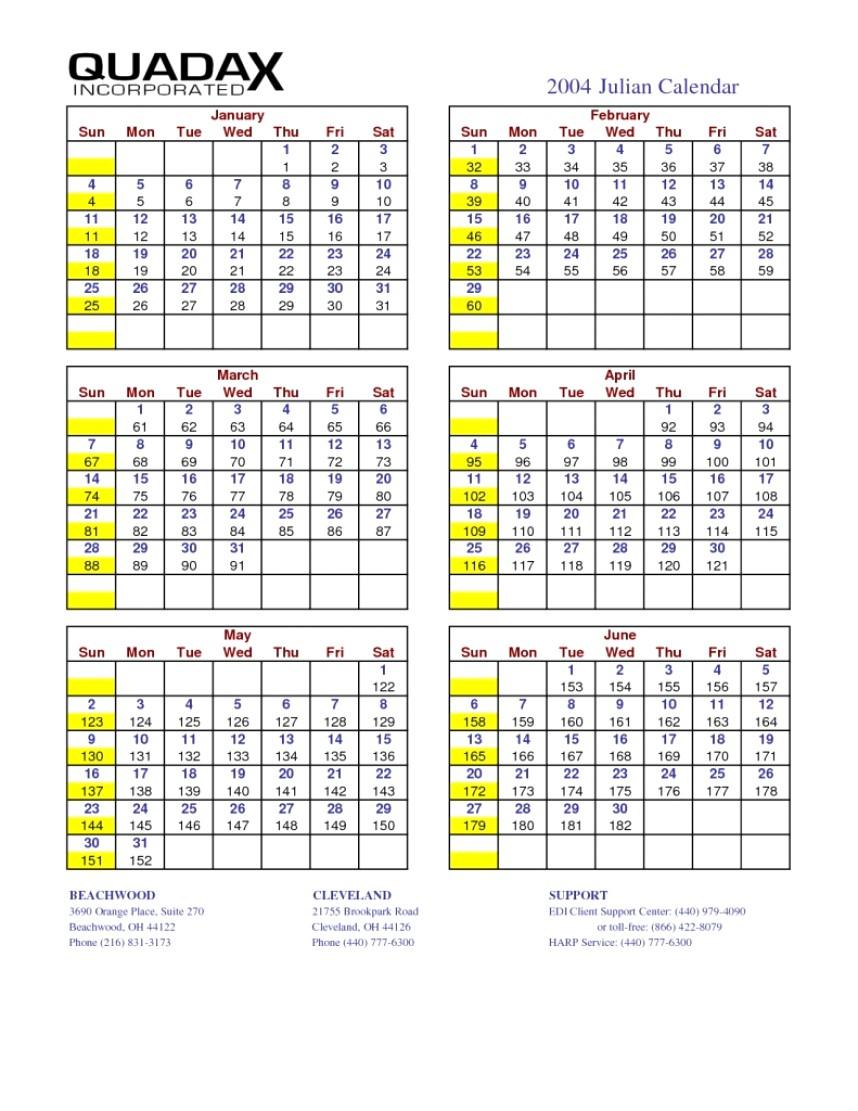 Print Julian Date Calendar | Example Calendar Printable pertaining to Julian Date The Years Only 2022