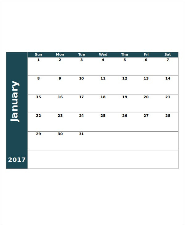 Printable Blank Calendar Template - 9+ Free Word, Excel inside How To Convert Xcel Doc To Calendar