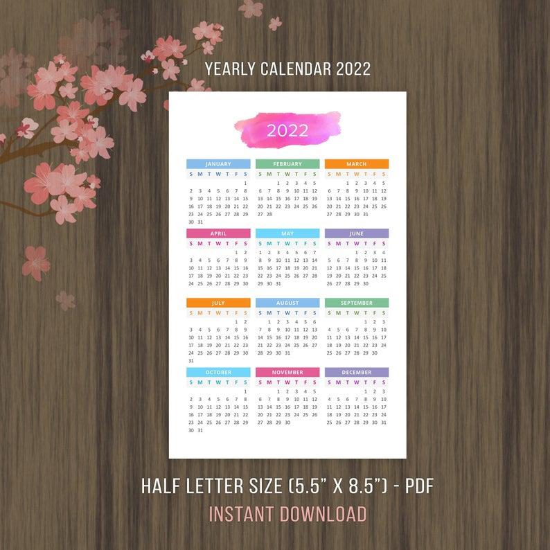 Printable Calendar 2022 2023 Desktop Calendar Yearly Wall with Walmart 2022 2023 Fiscal Calendar