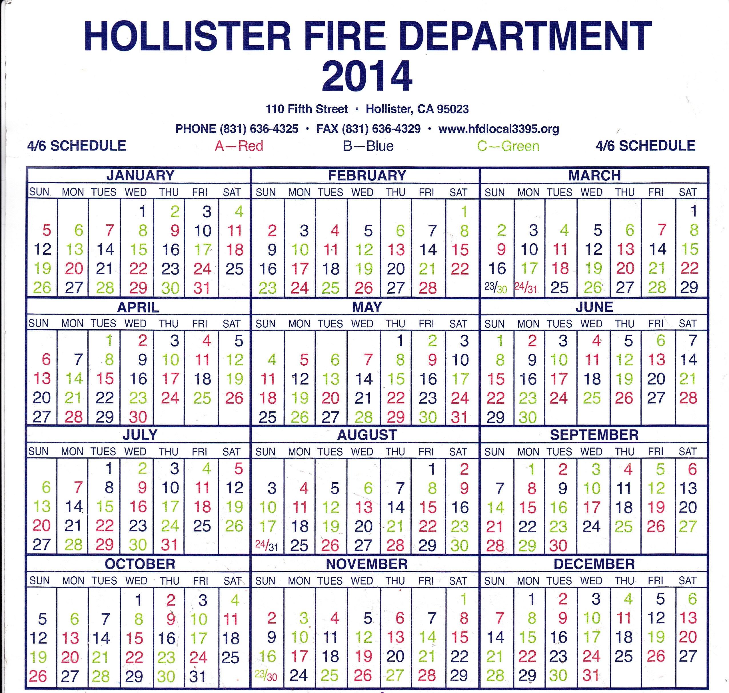 Printable Editable Fire Shift Calendar :-Free Calendar with 2022 Hfd Shift Calendar
