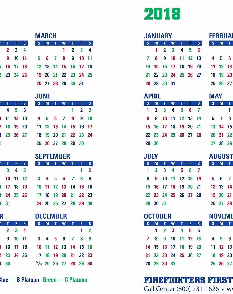 Printable Shift Calendars For Firefighters   Example with regard to 2022 Hfd Shift Calendar
