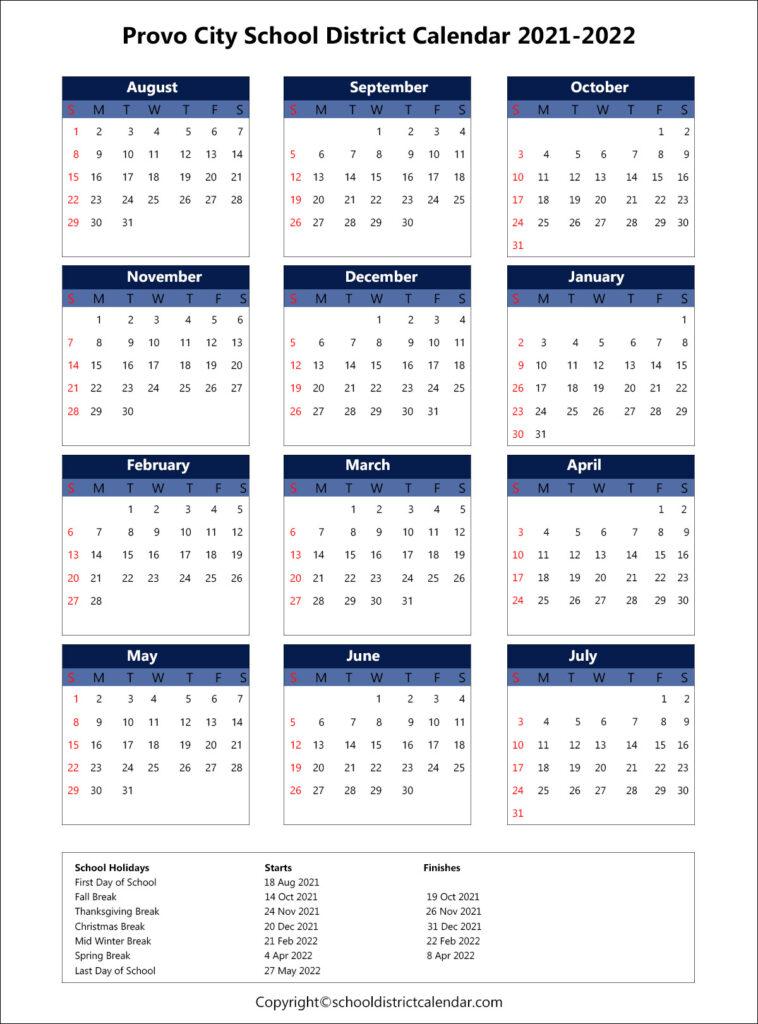 Provo City County School District Calendar Archives for Fresno Unified School Calendar 2022