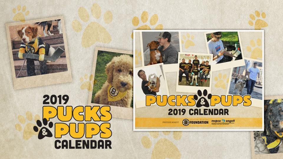 Pucks & Pups 2019 Calendar | Boston Bruins intended for Nashville School Calendar 2022