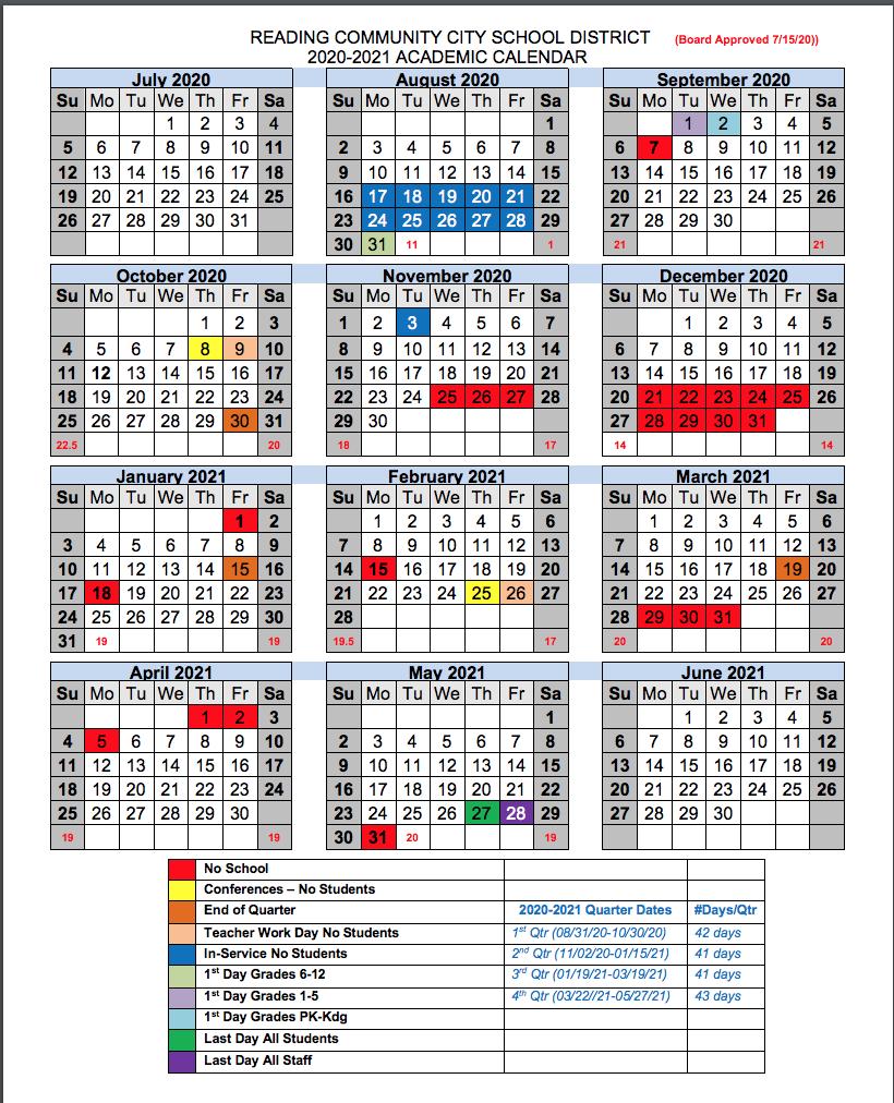 Reading Community City School District inside Doe Nyc School Calendar 2022 2023