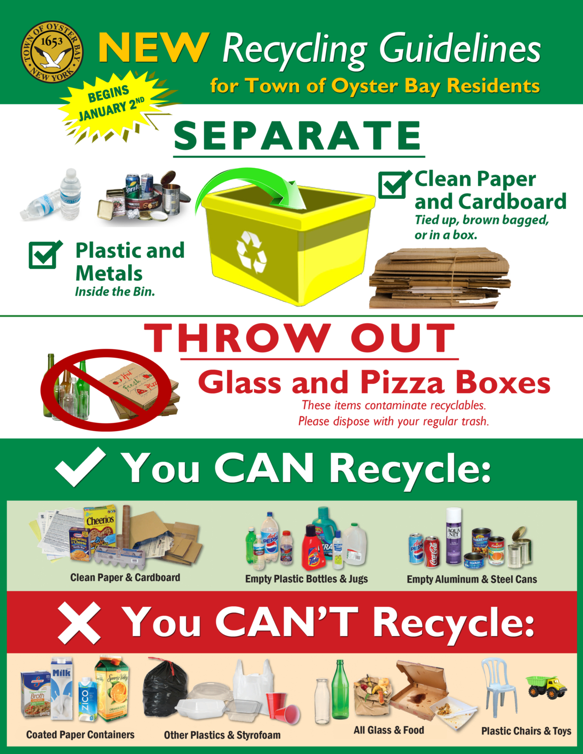 Recycling Information (S.o.r.t.) - Town Of Oyster Bay pertaining to Town Of Oyster Bay Sort Schedule