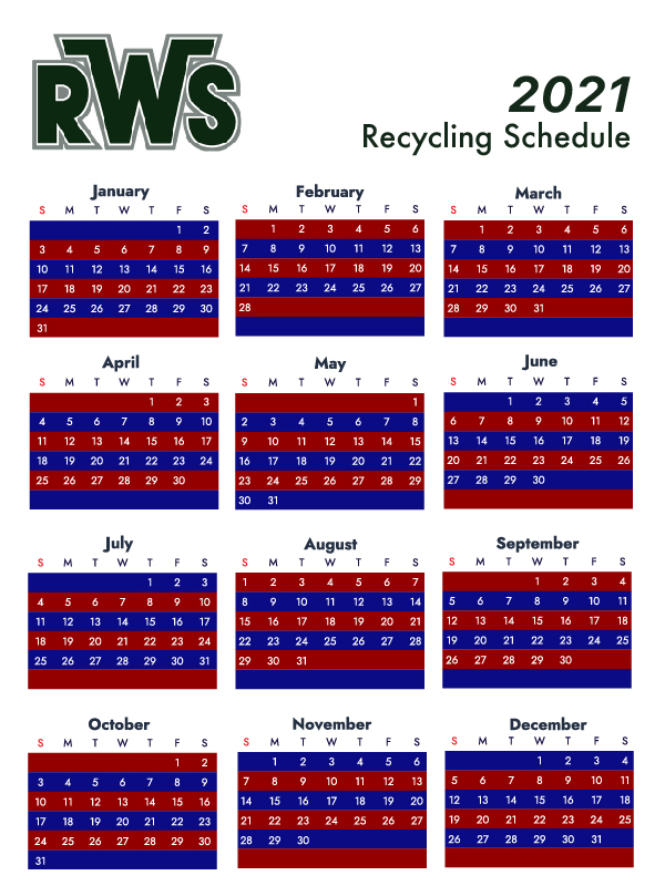 Residential Waste Systems Recycling Service Schedule intended for Lane County Court Holiday Calendar