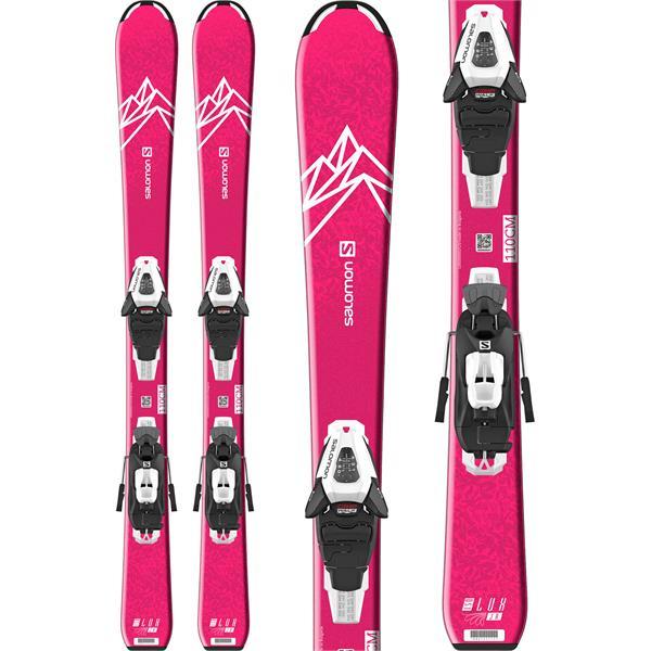 Salomon Qst Lux Jr Small Skis W/ C5 Gw Bindings - Girls 2022 with 4-5-4 Retail Calendar 2022