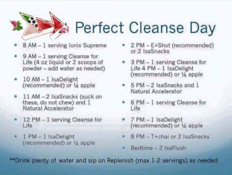 Sample Cleanse Day Schedule | Isagenix Cleanse, Cleanse with Isagenix 30 Day Schedule Pdf