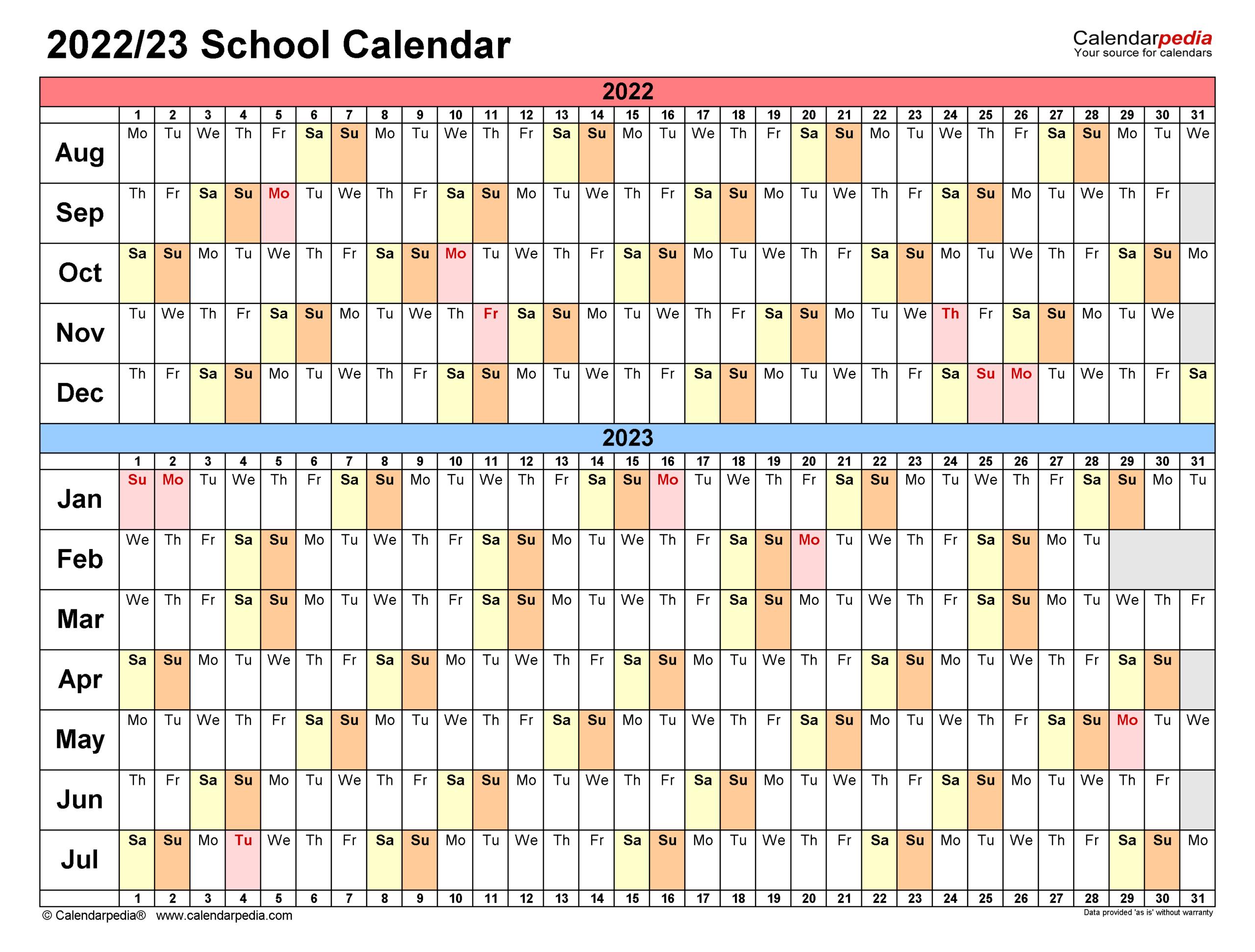 School Calendars 2022/2023 - Free Printable Pdf Templates regarding Aiken County 2022 2023 School Calendar