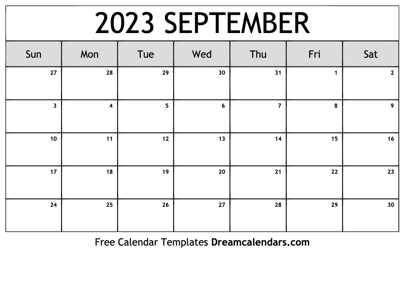 September 2023 Calendar | Free Blank Printable Templates pertaining to Sunset And Sunrise Calender 2022 2023