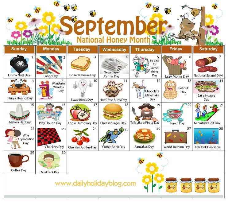 September Daily Holiday Calendar   Holiday Calendar throughout Everyday Is A Holiday Calendar