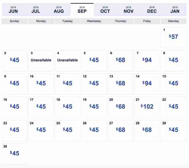 Southwest Low Fare Calendar: Four-Day Sale Has $45 Flights throughout Frontier Airlines Calendar For December