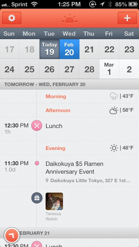 Start The Day With Sunrise Calendar, A Sleek App For Your with regard to Sunrise Sunset Times Add To Google Calendar