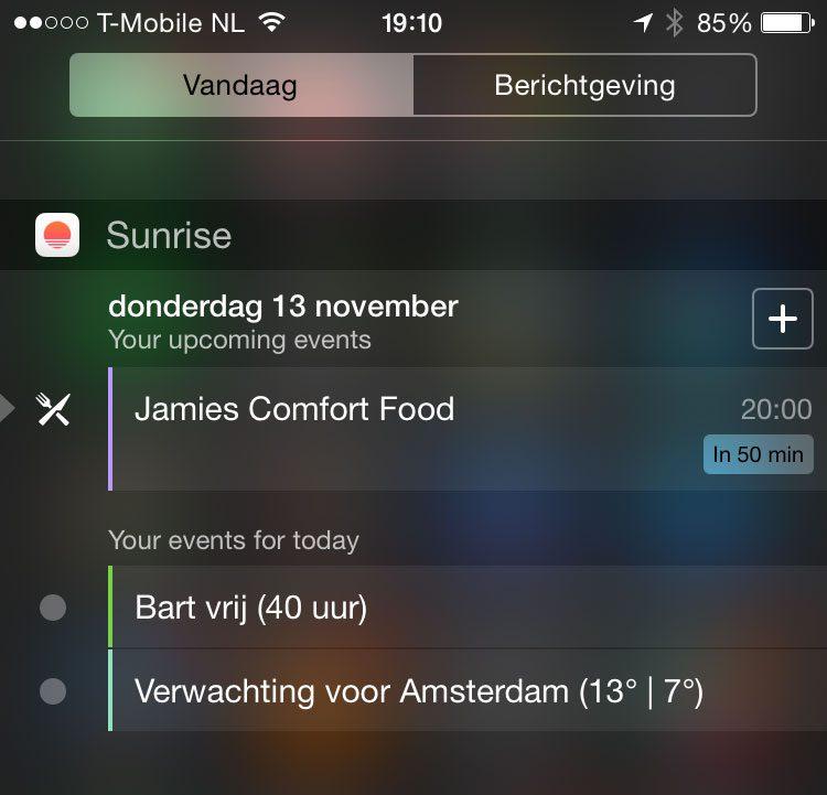 Sunrise Calendar Krijgt Ios 8-Widget in Sunrise Sunset Times Add To Google Calendar