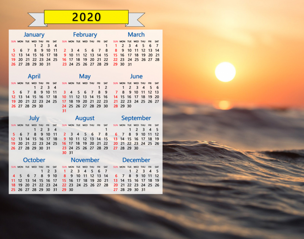 Sunrise Sunset Calendar 2020 Calendar Template 2020 in Sunrise Sunset Chart By Zip Code