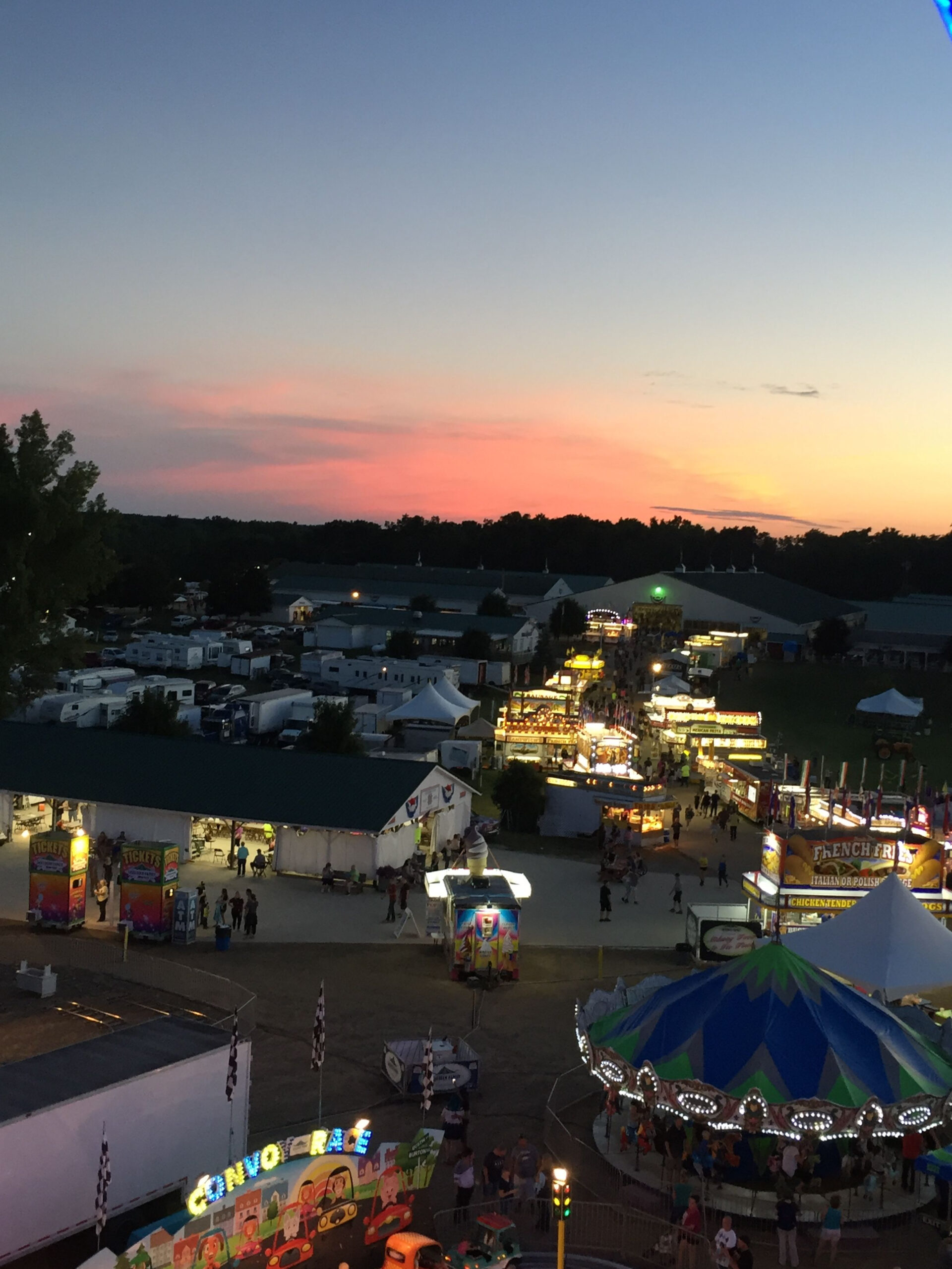 Sunset At Shiawassee County Fair. Aug. 2018   Shiawassee throughout Monthly Sun Set Times By Zip Code