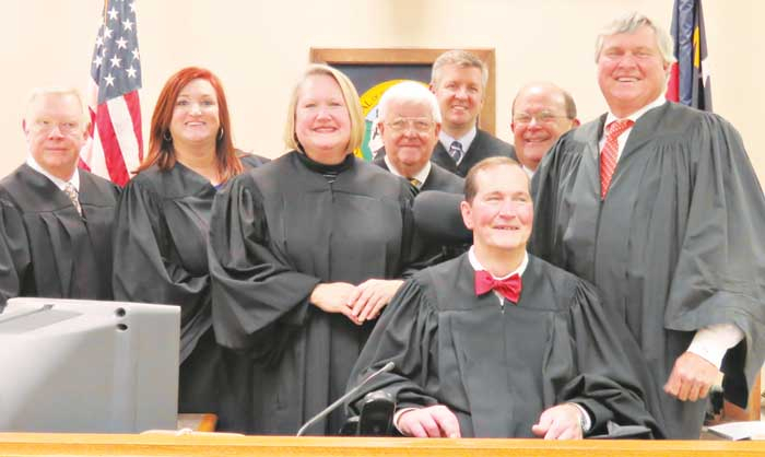 Superior Court Judge Takes Oath - Davie County Enterprise with regard to Nc Court Calendar District And Superior