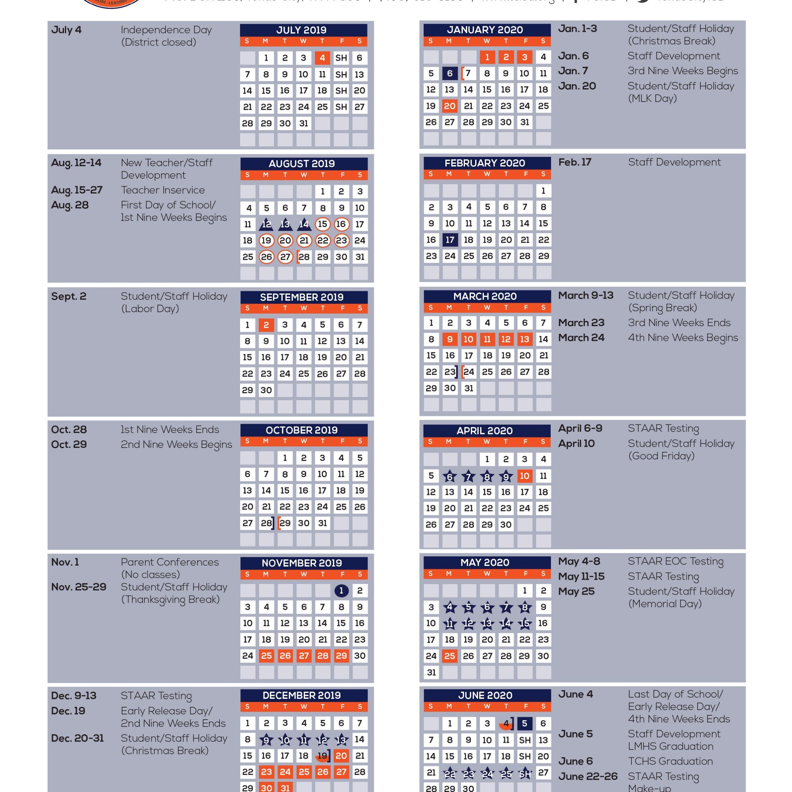Texas Department Of Education Calendar   Get Free Calendar regarding Calendar Department Of Education