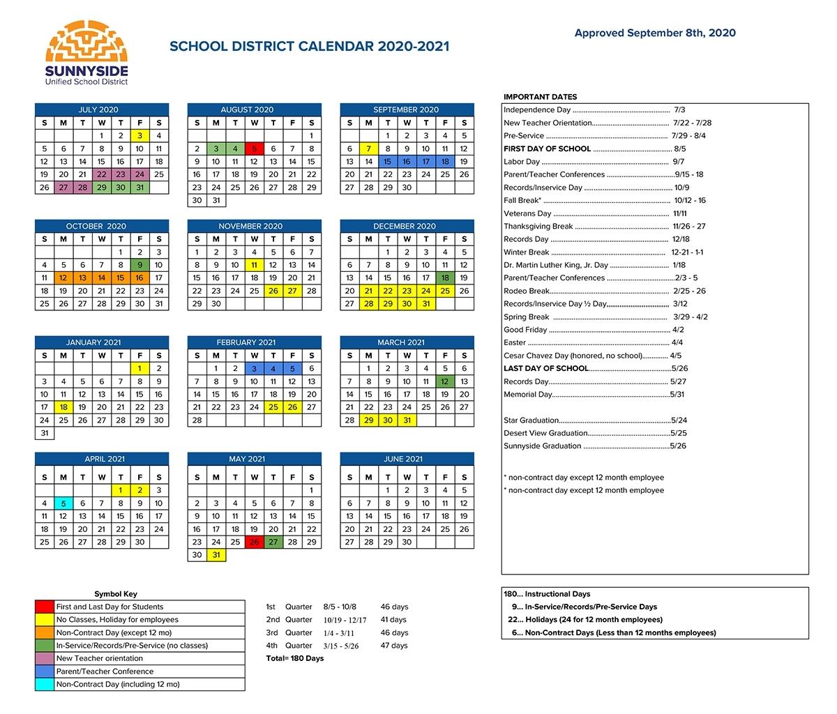 Tusd Calendar 2020 2021   Avnitasoni inside 2022 Federal Calendar Opm
