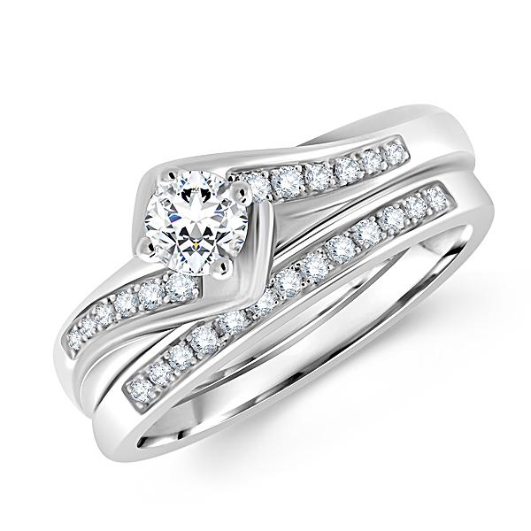 Unique Round Diamond Bridal Ring Set inside Retail 4-5-4 Calendar 2022