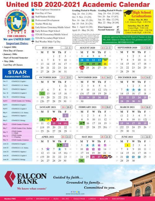 United High School - District Calendar inside Nashville School Calendar 2022