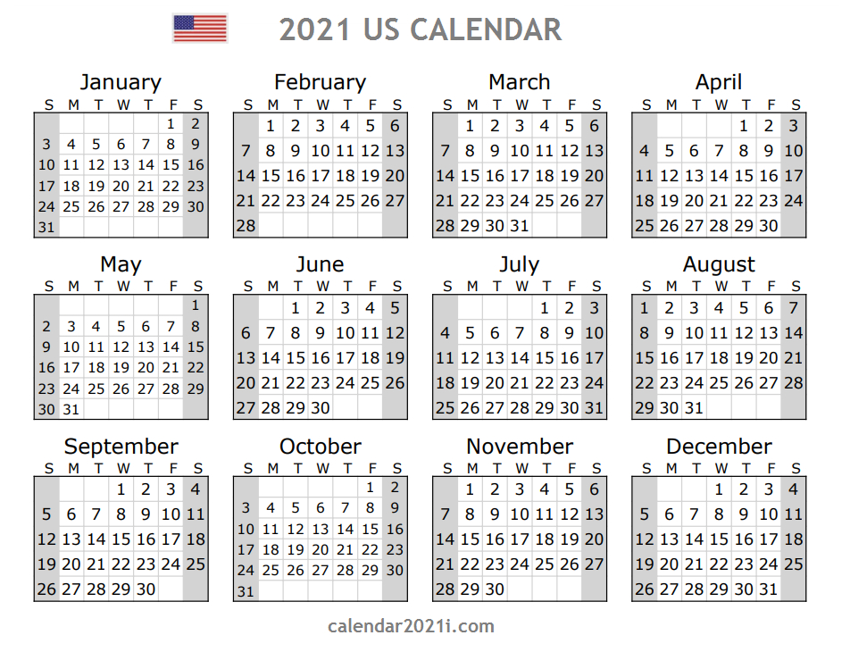 Us 2021 Calendar With Holidays | United States Printable for 2022 Calender For Trying To Conceive