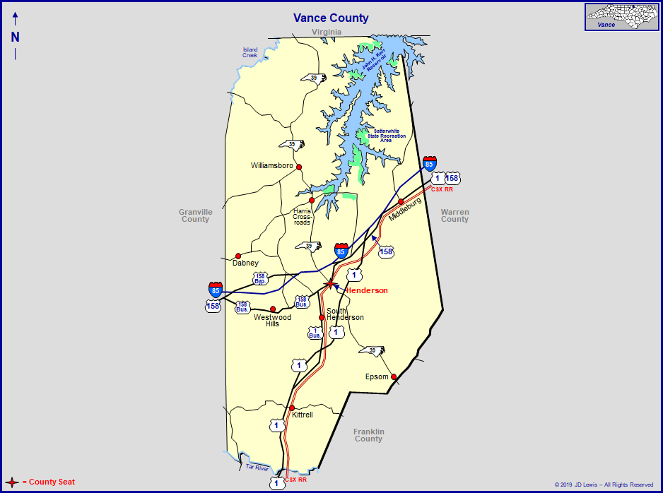 Vance County, North Carolina in Nc Court Dates By Name