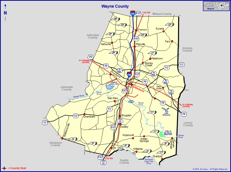 Wayne County, North Carolina within Nc Court Dates By Name