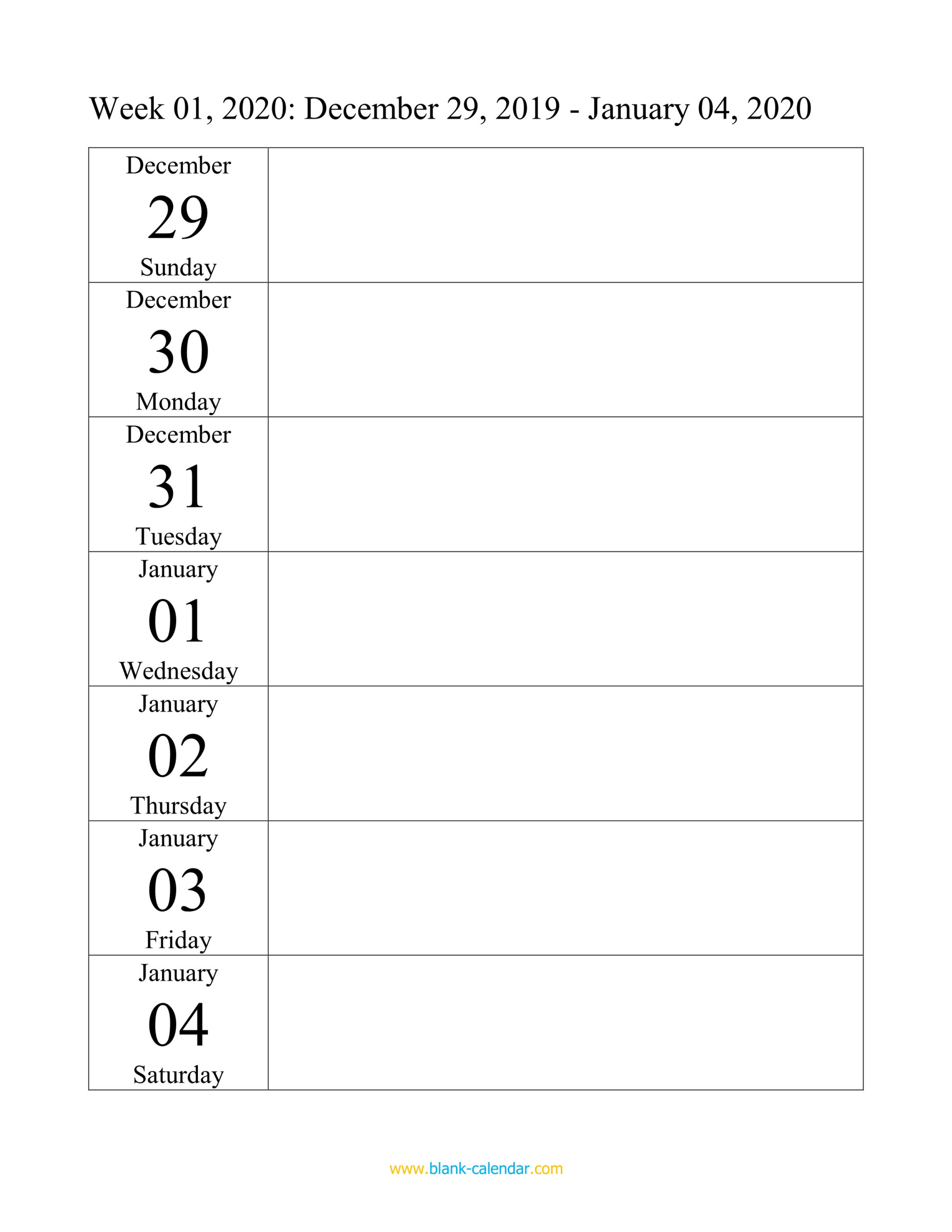 Weekly Calendar 2020 (Word, Excel, Pdf) in How To Convert Xcel Doc To Calendar