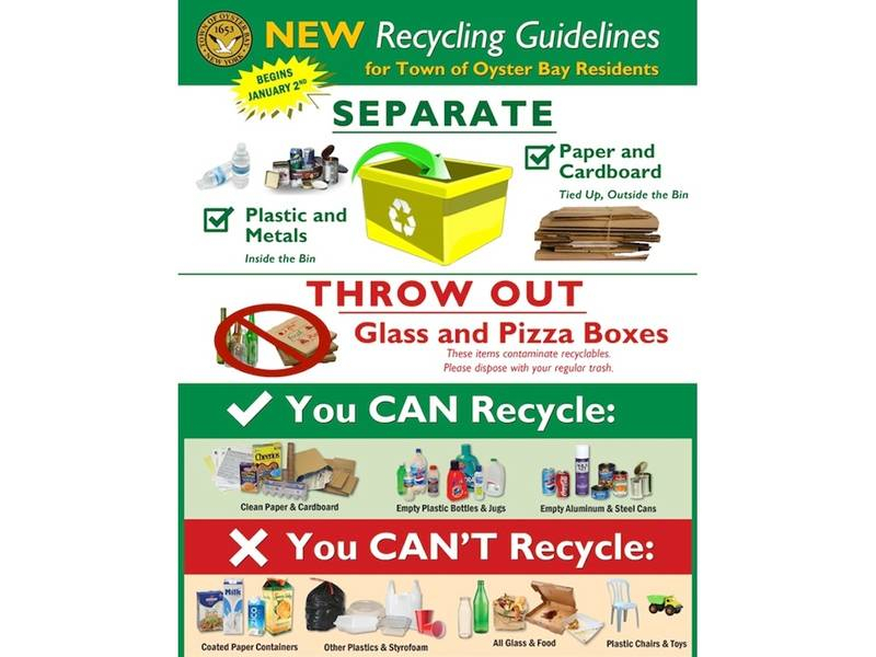 What You Can'T Recycle In Town Of Oyster Bay In 2019 inside Town Of Oyster Bay Calender