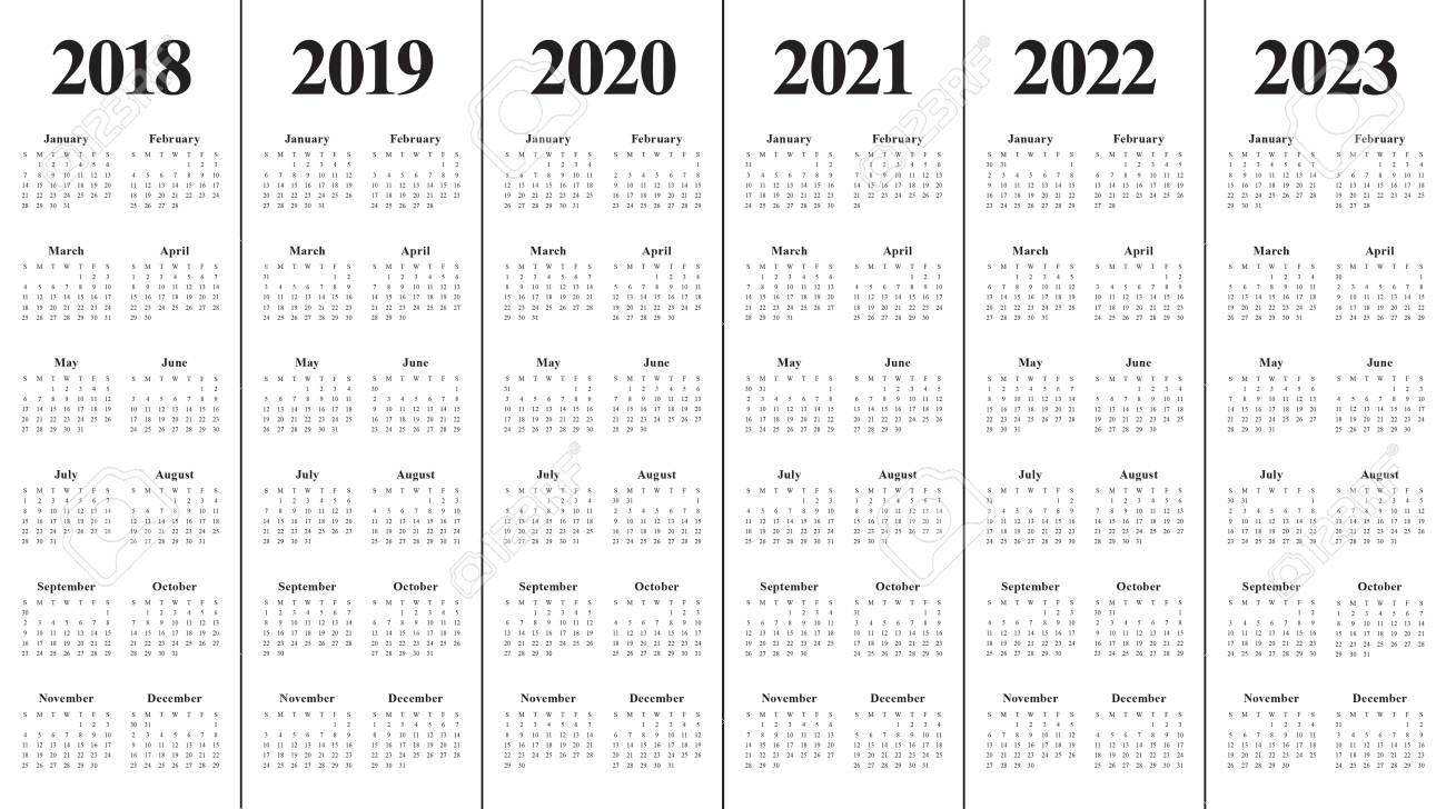 Yearly Calendar 2020 2021 2022 2023 - Calendar Inspiration intended for Walmart 2022 2023 Fiscal Calendar