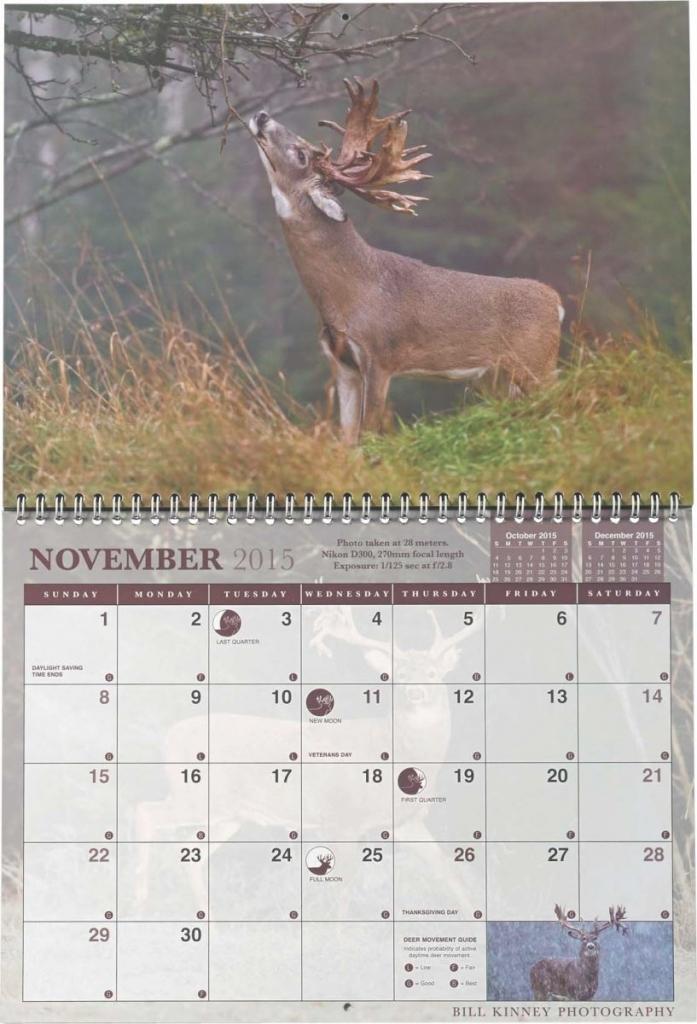 2021 Deer And Deer Hunting Rut Calendar | Calendar in Printable Deer Hunting Moon Chart