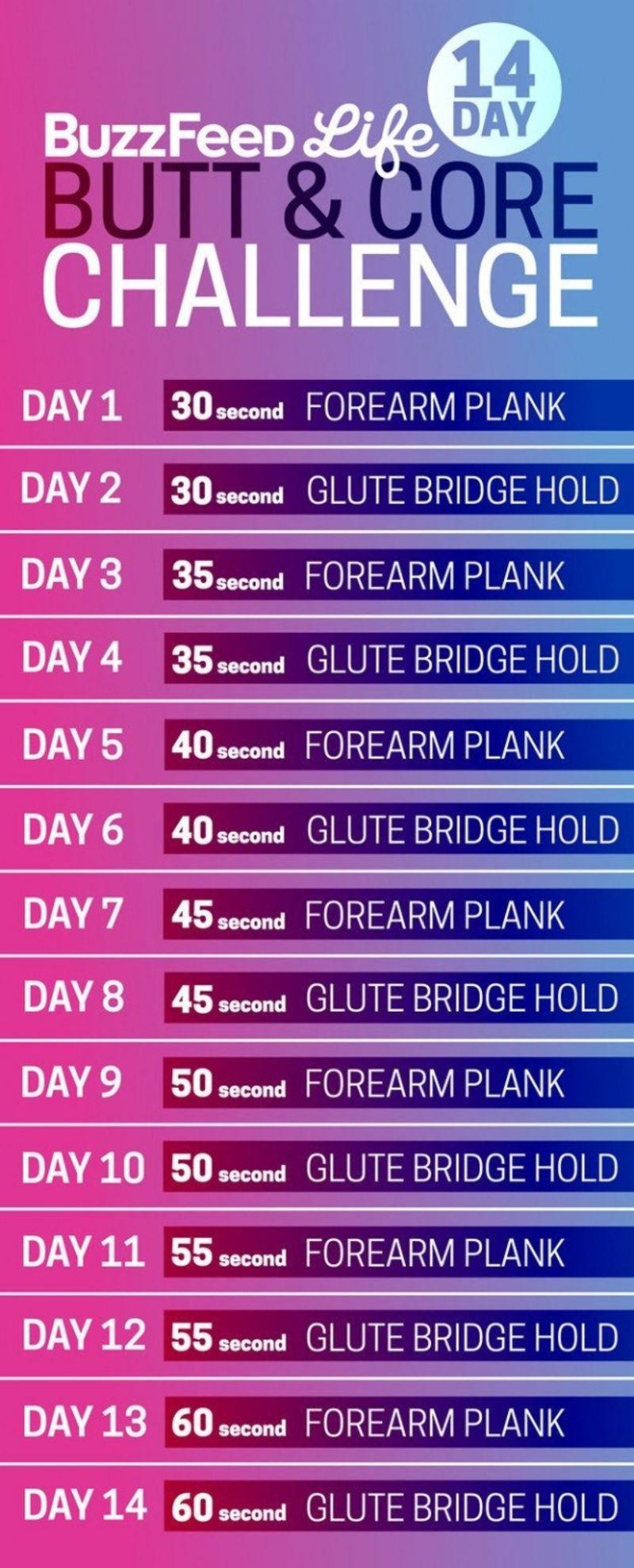 3. 14-Day Butt And Core Challenge - 23 Fit Butt with Butt And Leg Challenges