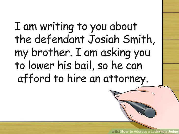 3 Ways To Address A Letter To A Judge - Wikihow in Nc Court Dates By Defendant Name